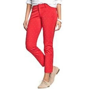 Old Navy Red Pixie Skinny Pants Jeans 16 Plus Size